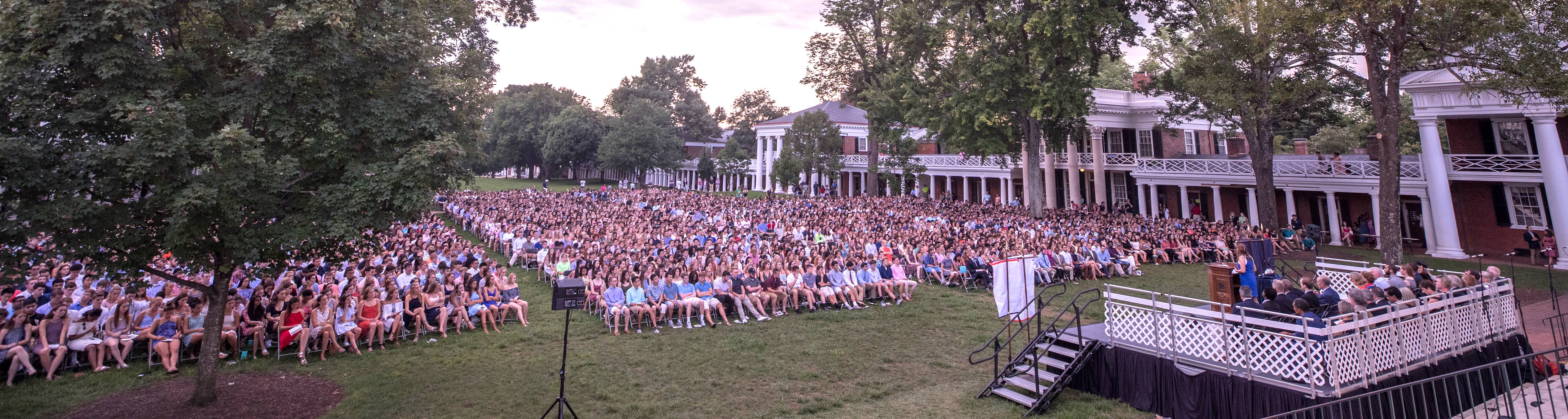 UVA Opening Convocation crowd of students