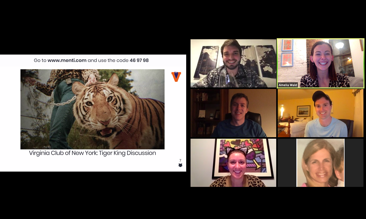 Virginia Club of New York Tiger King Discussion