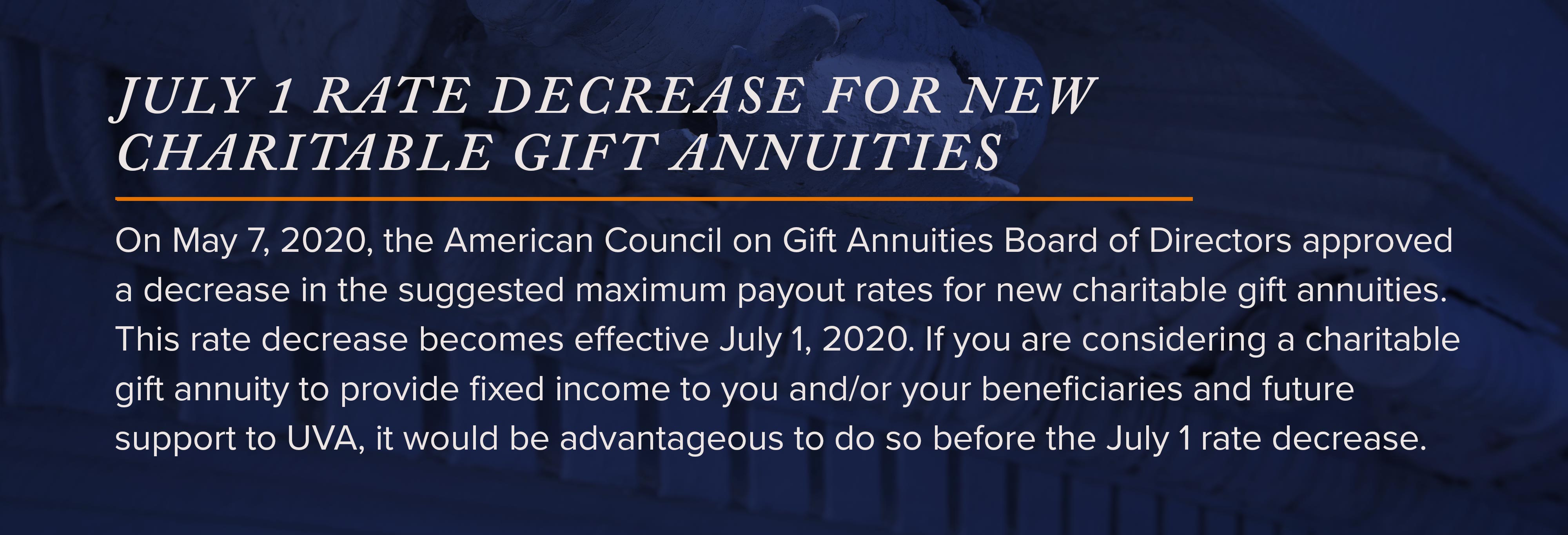 Charitable Gift Annuities | Give to UVA