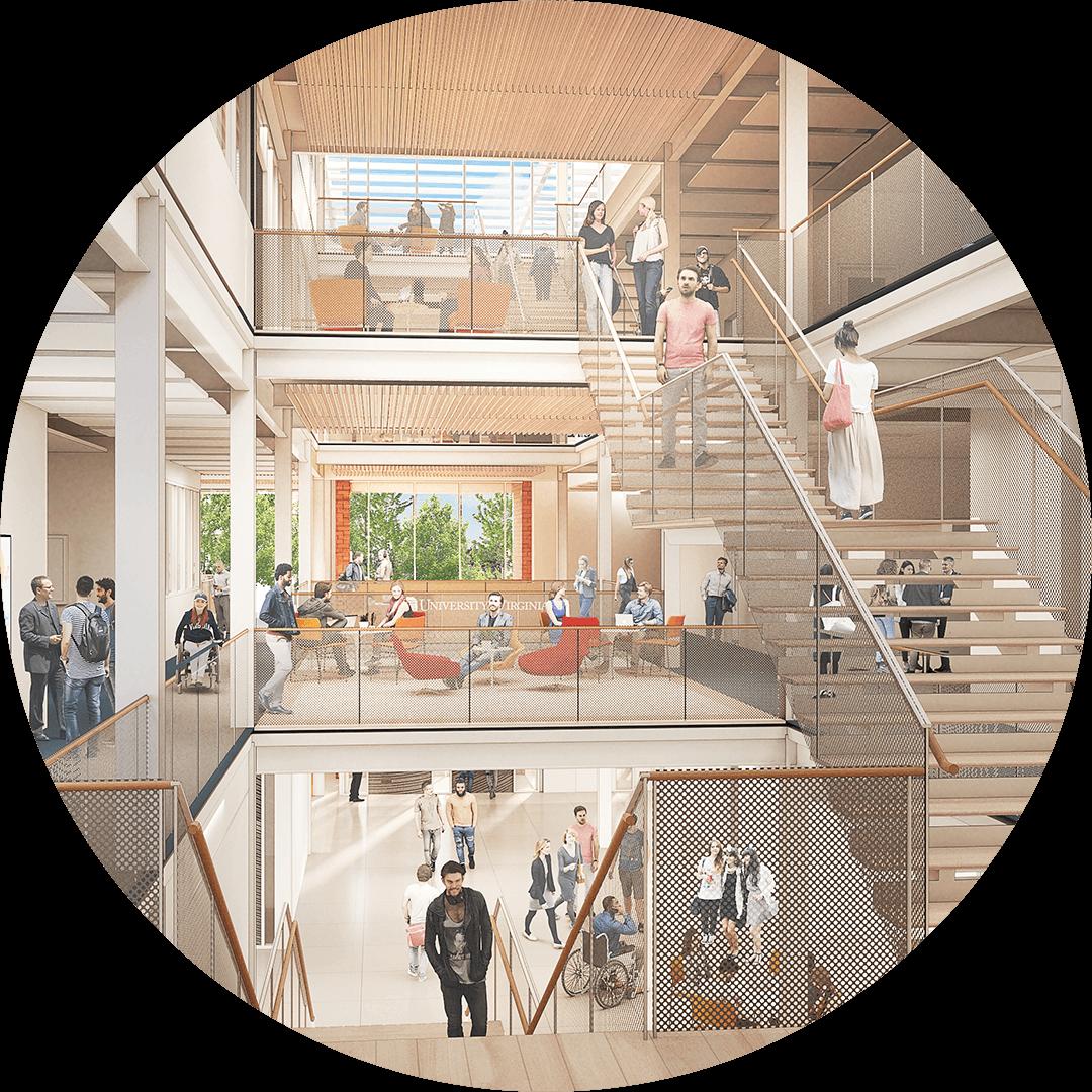 School of Data Science Stairwell Rendering