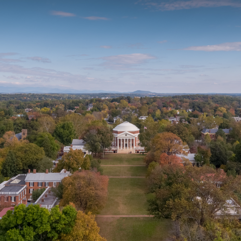 Aerial View of Rotunda and Lawn