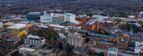 Aerial View of UVA Hospital