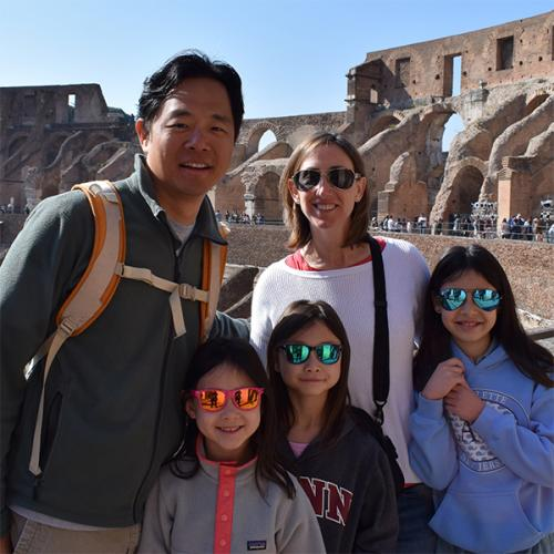 Kang Family at the Colosseum