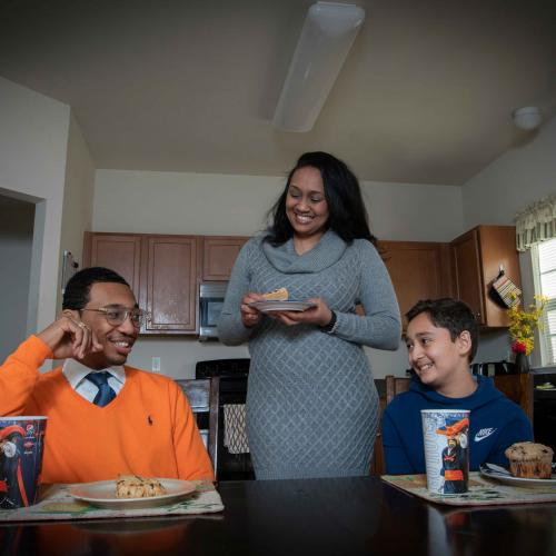 UVA student Khalif Audain and family